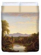 Catskill Creek - New York Duvet Cover by Thomas Cole