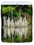 Cattail Reflection Duvet Cover