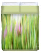 Cattails And Flowers Duvet Cover