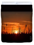 Cattails And Twilight Duvet Cover