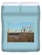 Cattails At Skymount Pond Pa Duvet Cover