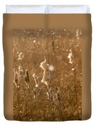Cattails In Snowstorm 3 Duvet Cover