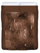Cattails In Snowstorm 8 Duvet Cover