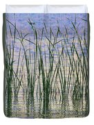 Cattails In The Lake Duvet Cover