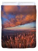 Cattails In The Wind Duvet Cover