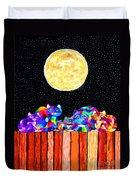 Catting In The Moonlight Duvet Cover