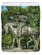 Cattle Drive Sculpture, Pioneer Plaza, Dallas, Tx. Duvet Cover