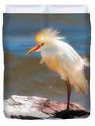 Cattle Egret In Breeding Plumage Duvet Cover