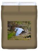 Cattle Egret In Flight Duvet Cover