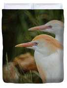 Cattle Egrets Dry Brushed Duvet Cover