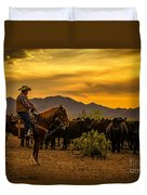 Cattle Drive 41 Duvet Cover