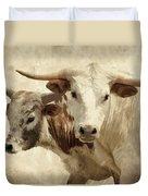 Cattle Steers Duvet Cover