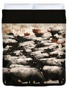 Cattle With Snow On Their Backs Duvet Cover