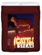 Cattlemen's Neon Stock Yards Duvet Cover
