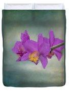 Cattleya Orchid  Duvet Cover