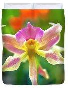 Caucaea Rhodosticta Orchid Duvet Cover