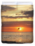 Caught At Sunset Duvet Cover