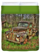 Caught Behind 1947 Ford Stakebed Pickup Truck Art Duvet Cover