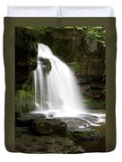 Cauldron Falls, West Burton, North Yorkshire Duvet Cover