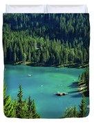 Caumasee Lake Switzerland Duvet Cover