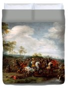 Cavalry Skirmish Duvet Cover