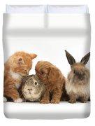 Cavapoo Pup, Rabbit, Guinea Pig Duvet Cover