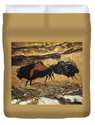 Cave Art: Bison Duvet Cover