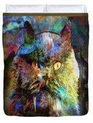 Cave Cat Duvet Cover