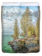 Cave Point Bluffs 2 Duvet Cover