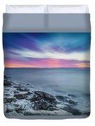 Cave Point Sunrise Duvet Cover