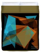 Cave Polygon Pattern Duvet Cover
