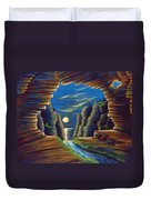 Cave With Cliffs Duvet Cover