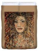 Cave Woman Duvet Cover