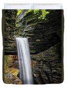 Cavern Cascade In Watkins Glen Duvet Cover
