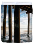 Cayucos Pier Duvet Cover by Sharon Foster
