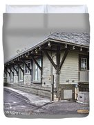 Cayuga Town Hall Duvet Cover
