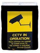 Cctv Warning Sign Duvet Cover