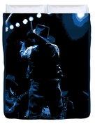 Cdb Winterland 12-13-75 #11 Enhanced In Blue Duvet Cover