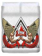 C.d.c.r. Crisis Response Team - C.r.t. Patch Over White Duvet Cover