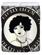 Cecely Bloom Deco Portrait Duvet Cover