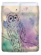 Cecil The Sad Owl Duvet Cover