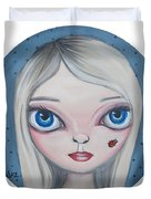 Cecilia And The Ladybug Duvet Cover