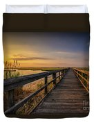 Cedar Beach Pier, Long Island New York Duvet Cover