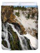 Cedar Creek Falls Winter Duvet Cover