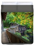 Cedar Creek Grist Mill Duvet Cover
