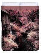 Cedar Creek Grist Mill Soft Burgundy Duvet Cover