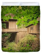 Cedar Creek Mill And Covered Bridge Duvet Cover