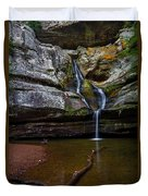 Cedar Falls In Hocking Hills State Park Duvet Cover