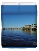 Cedar Key Pier Duvet Cover