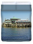 Cedar Key Waterfront Duvet Cover